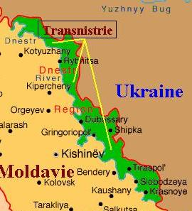 Chronological History Of Transnistria Pridnestrovie Wars In - Transnistria map