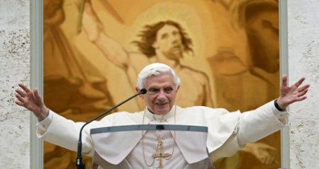Papa Benedict Gandolfo 28213 www.sconews,co.uk